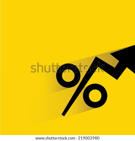 percentages growing up - stock vector