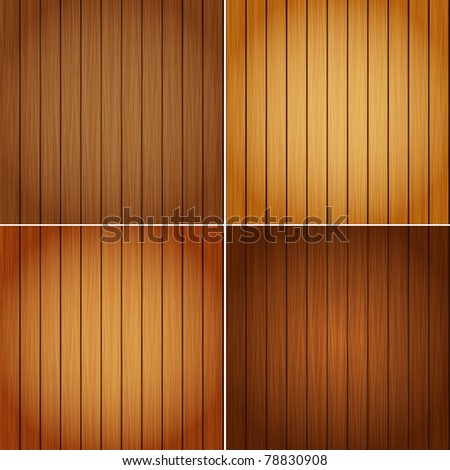 Perfect Colorful Texture of Wood in 4 Colours - stock vector