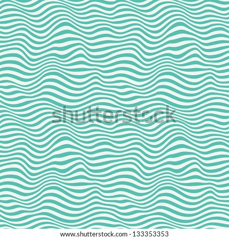 Perfect seamless blue waves. Abstract pattern. Vector illustration