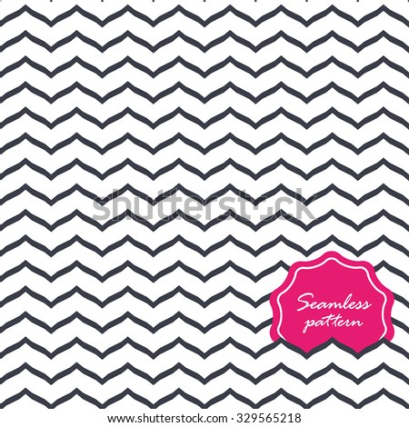 Perfect seamless Zig zag pattern. - stock vector