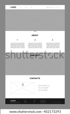 Perfect template of landing page for your business. Monochrome is perfect base for your ideas. Use it like web site landing page and advertising