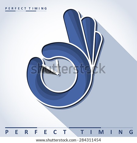 Perfect timing, vector - stock vector
