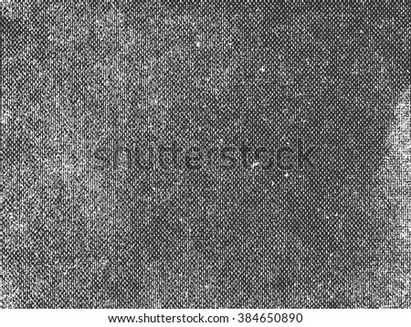Perforated cardboard texture. Distressed paper texture. Black and white colored grunge background. Halftone paper texture overlay. Abstract background. Vector illustration - stock vector