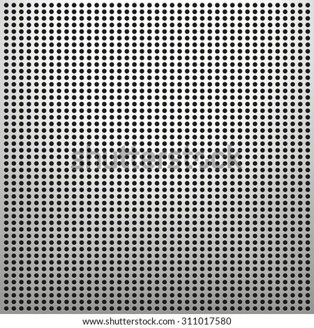 Perforated metal surface - technology background - stock vector