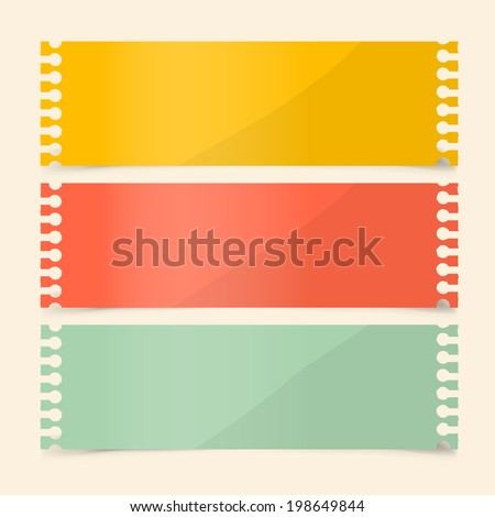 Perforated Papers Set Vector Illustration - stock vector