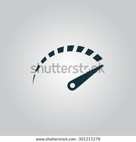 Performance measurement. Flat web icon or sign isolated on grey background. Collection modern trend concept design style vector illustration symbol - stock vector