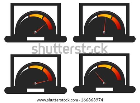 Performance Meter - stock vector