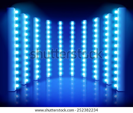 Performance on the stage. Vector illustration. - stock vector