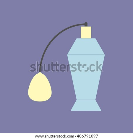 Perfume Bottle Icon on a purple background. Vector  illustration