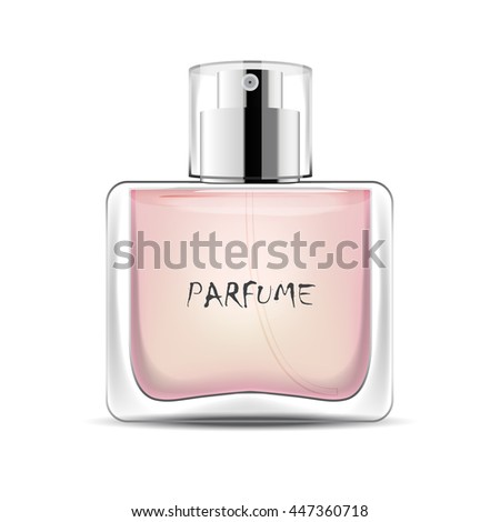 Perfume bottle isolated on white background.