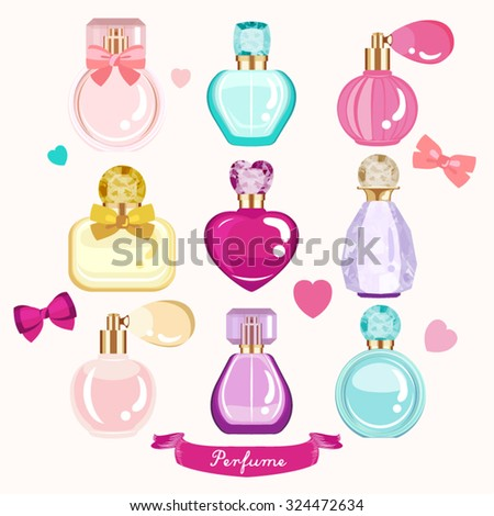 Perfume Vector Design Illustration - stock vector