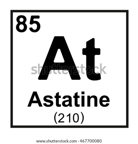 Periodic table element astatine stock vector 467700080 shutterstock periodic table element astatine urtaz Gallery