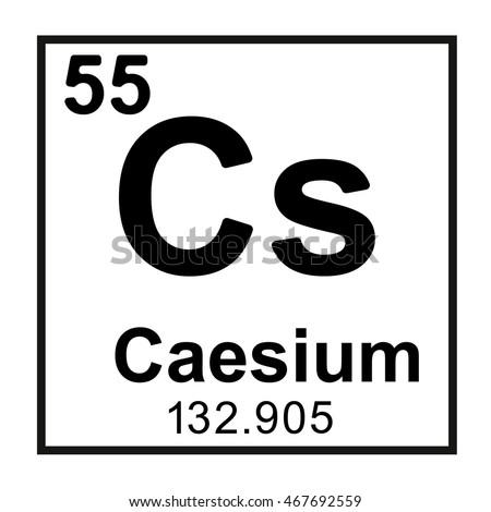 Periodic table element caesium stock vector 467692559 shutterstock periodic table element caesium urtaz Gallery