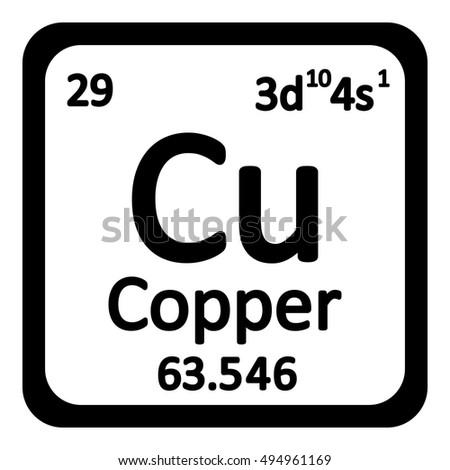 Periodic table element copper icon on stock vector royalty free periodic table element copper icon on white background vector illustration urtaz Choice Image