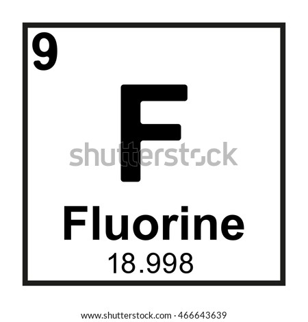 Periodic Table Element Fluorine Stock Vector Royalty Free