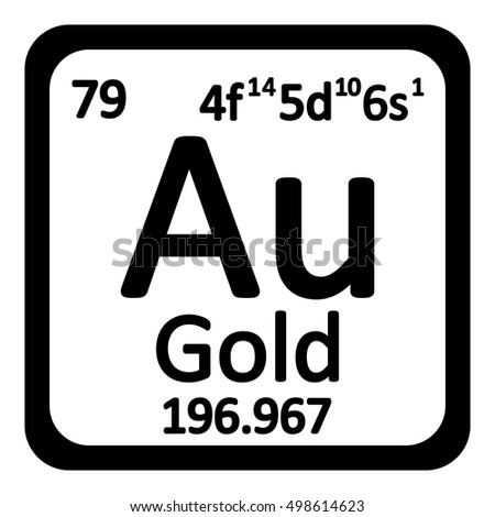 Periodic table element gold icon on stock vector 498614623 periodic table element gold icon on white background vector illustration urtaz Gallery