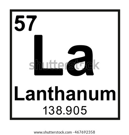 Periodic Table Element Lanthanum Stock Vector Royalty Free