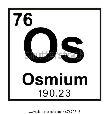Periodic Table Element Osmium Stock Vector Royalty Free 467692346