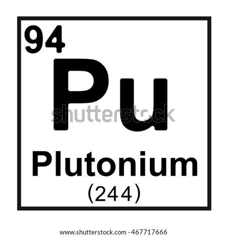 Periodic Table Element Plutonium Stock Vector 2018 467717666