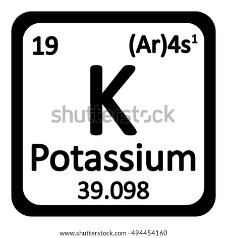 Periodic table element potassium icon on stock vector royalty free periodic table element potassium icon on white background vector illustration urtaz Images