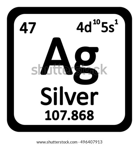 Periodic Table Element Silver Icon On Stock Vector ...