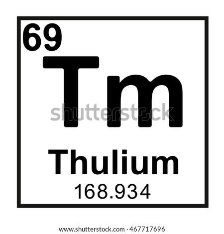 Periodic table element thulium stock vector 467717696 shutterstock periodic table element thulium urtaz Gallery
