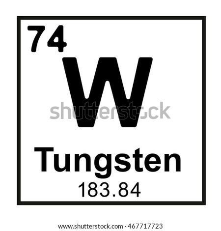 Periodic table element tungsten stock vector 467717723 shutterstock periodic table element tungsten urtaz Choice Image