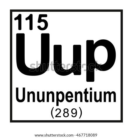 periodic table element ununpentium - Periodic Table Symbol Ununquadium