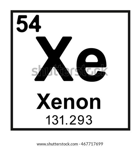 Periodic table element xenon stock vector 467717699 shutterstock periodic table element xenon urtaz Images
