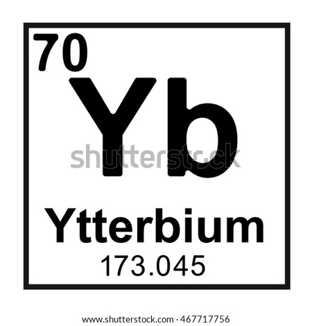 Periodic table element ytterbium stock vector royalty free periodic table element ytterbium urtaz Images