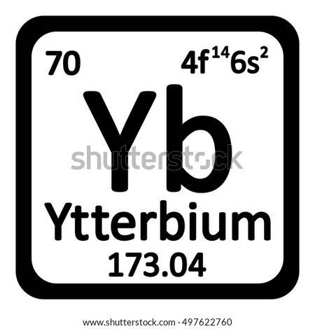 Periodic table element mercury icon on stock vector 498617929 periodic table element ytterbium icon on white background vector illustration urtaz Gallery