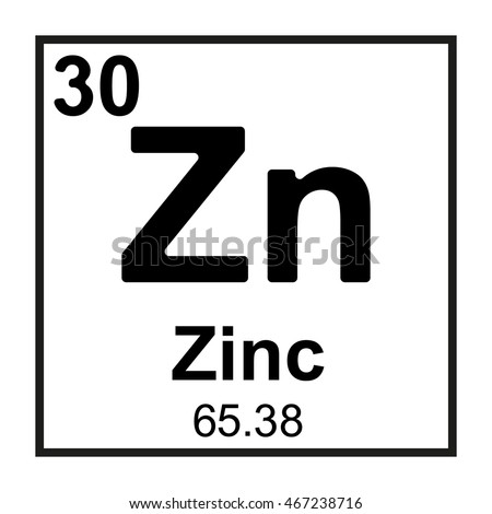 Periodic Table Element Zinc Stock Vector Royalty Free 467238716