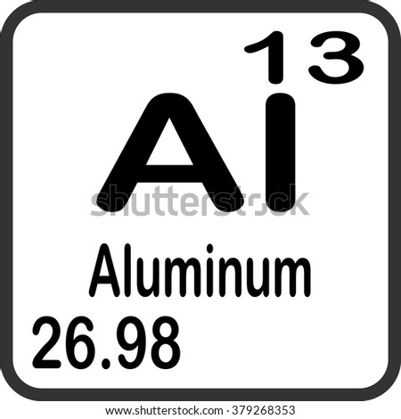 Periodic table elements aluminum stock vector 379268353 shutterstock periodic table of elements aluminum urtaz Gallery