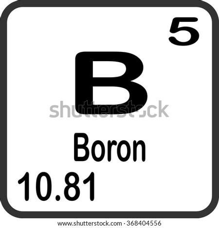 Periodic Table Elements Boron Stock Vector 368404556 Shutterstock