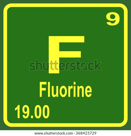 Periodic table elements fluorine stock vector 368423729 shutterstock periodic table of elements fluorine urtaz Images