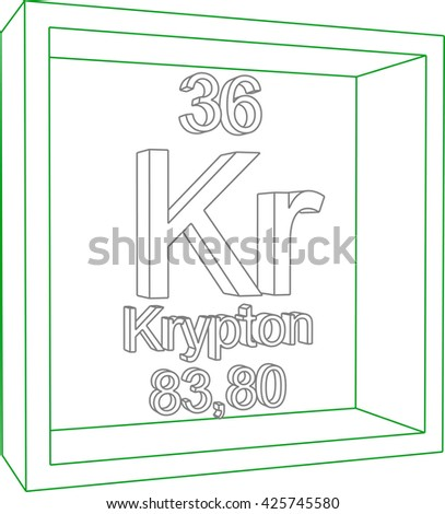 Periodic table elements krypton stock vector 425745580 shutterstock periodic table of elements krypton urtaz Choice Image