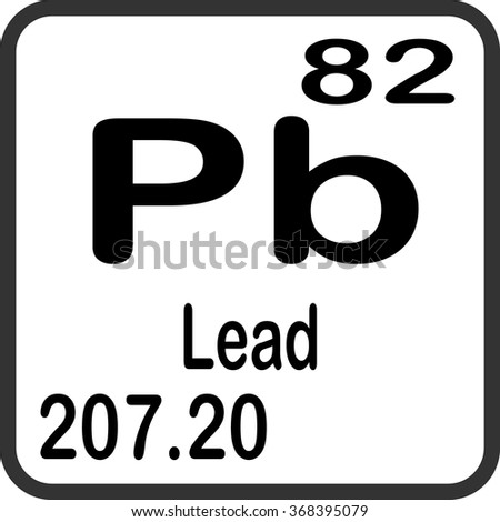 Periodic table elements lead stock vector 368395079 shutterstock periodic table of elements lead urtaz Images