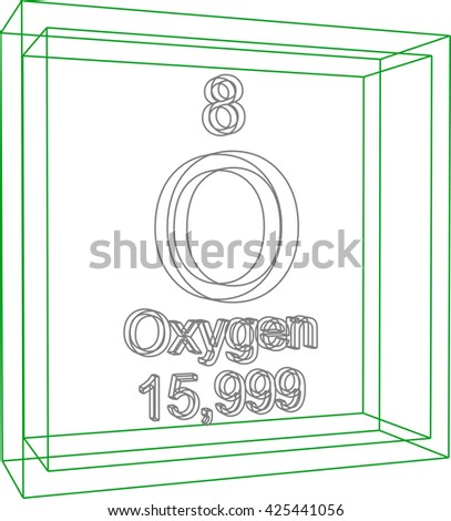 Periodic table elements oxygen stock vector 425441056 shutterstock periodic table of elements oxygen urtaz Choice Image