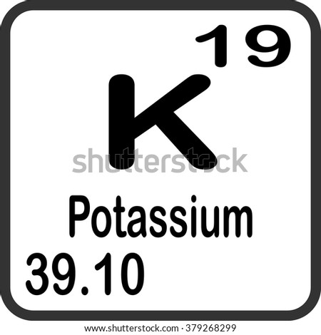 Periodic table elements potassium stock vector 379268299 shutterstock periodic table of elements potassium urtaz Image collections