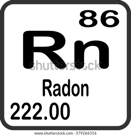 Periodic Table Elements Radon Stock Vector 379266316 Shutterstock