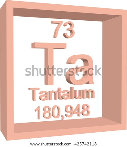 Periodic Table of Elements - Tantalum