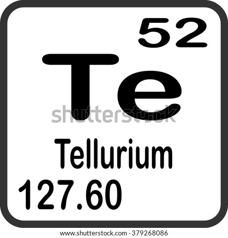 Periodic table elements tellurium stock vector 379268086 periodic table of elements tellurium urtaz Image collections