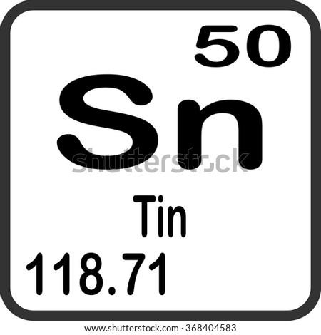 Periodic table elements tin stock vector 2018 368404583 shutterstock periodic table of elements tin urtaz Gallery