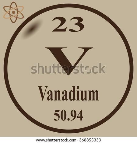 Periodic table elements vanadium stock photo photo vector periodic table of elements vanadium urtaz Choice Image