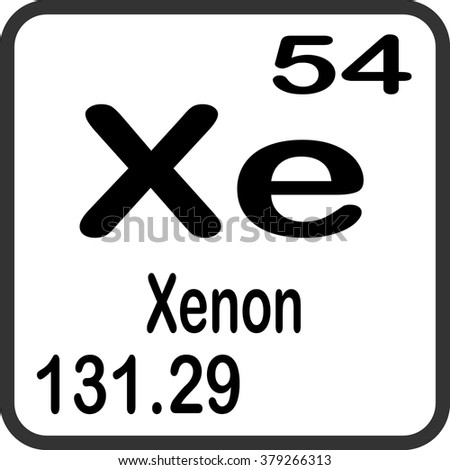 Periodic table elements xenon stock vector 379266313 shutterstock periodic table of elements xenon urtaz Image collections