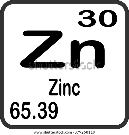 Periodic table elements zinc stock vector 379268119 shutterstock periodic table of elements zinc urtaz Gallery