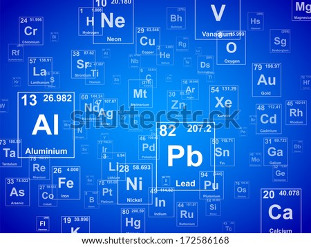 Periodic table of the elements. Background illustration  - stock vector