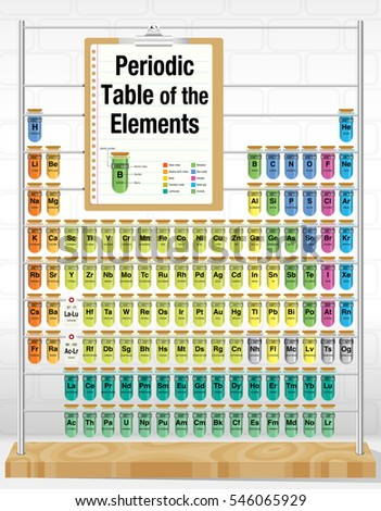 Periodic table elements consisting test tubes stock vector periodic table of the elements consisting of test tubes with the names and number of each urtaz Choice Image