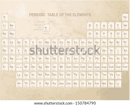 Periodic table chemical elements stock vector 61175692 shutterstock periodic table of the elements with atomic number symbol and weight urtaz Choice Image