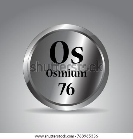 Periodic tableosmium periodic stock vector 768965356 shutterstock periodic tableosmium periodic urtaz Images